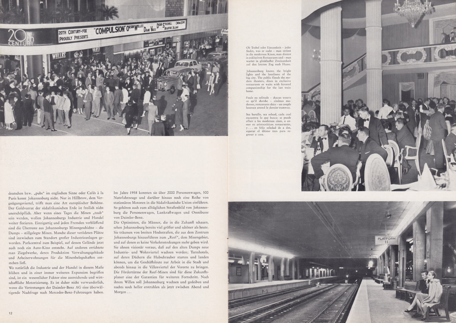 (REVISTA): Periódico In aller welt n.º 34 - Mercedes-Benz no mundo - 1959 - multilingue 007