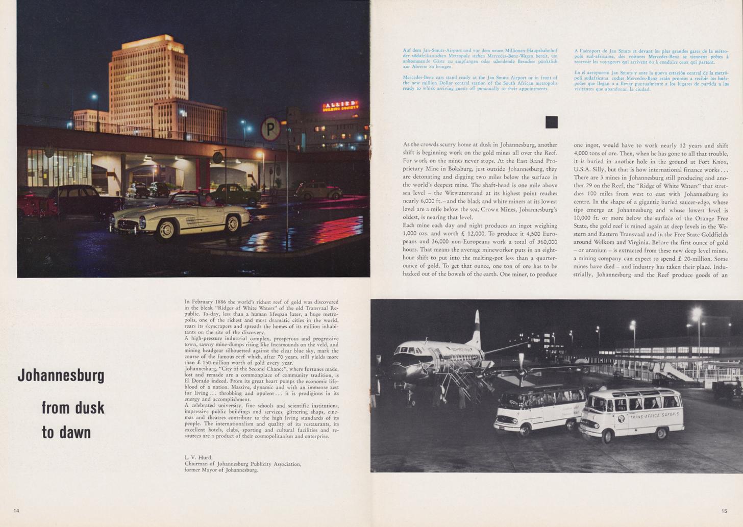 (REVISTA): Periódico In aller welt n.º 34 - Mercedes-Benz no mundo - 1959 - multilingue 008