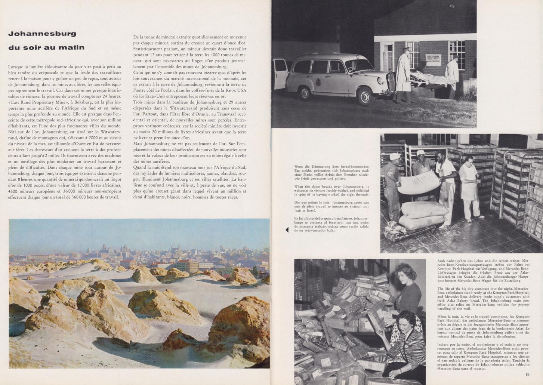 (REVISTA): Periódico In aller welt n.º 34 - Mercedes-Benz no mundo - 1959 - multilingue 010
