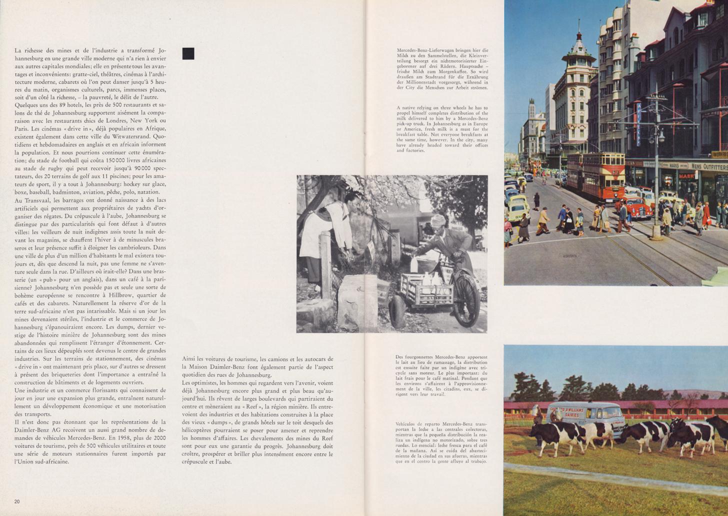 (REVISTA): Periódico In aller welt n.º 34 - Mercedes-Benz no mundo - 1959 - multilingue 011