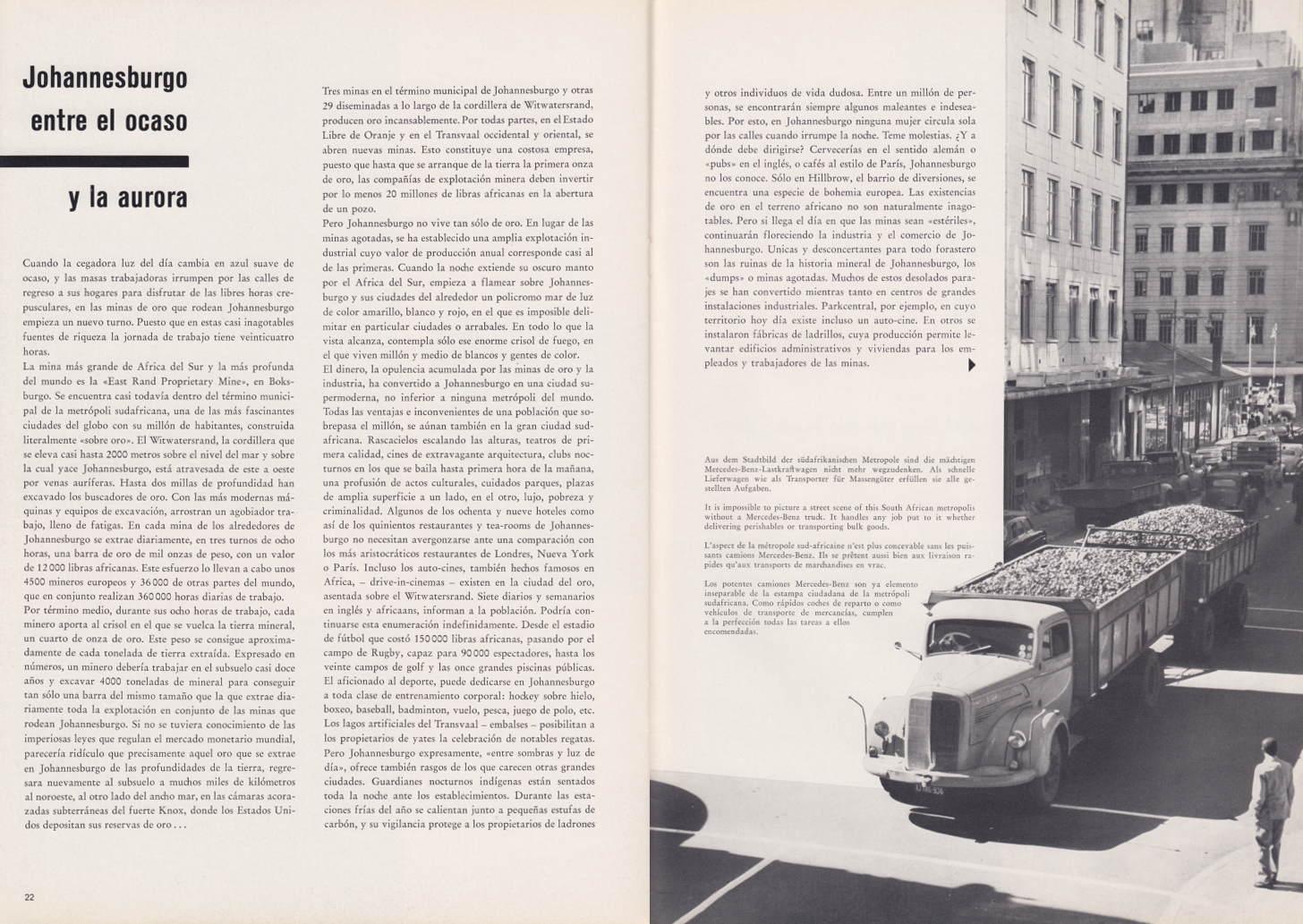 (REVISTA): Periódico In aller welt n.º 34 - Mercedes-Benz no mundo - 1959 - multilingue 012