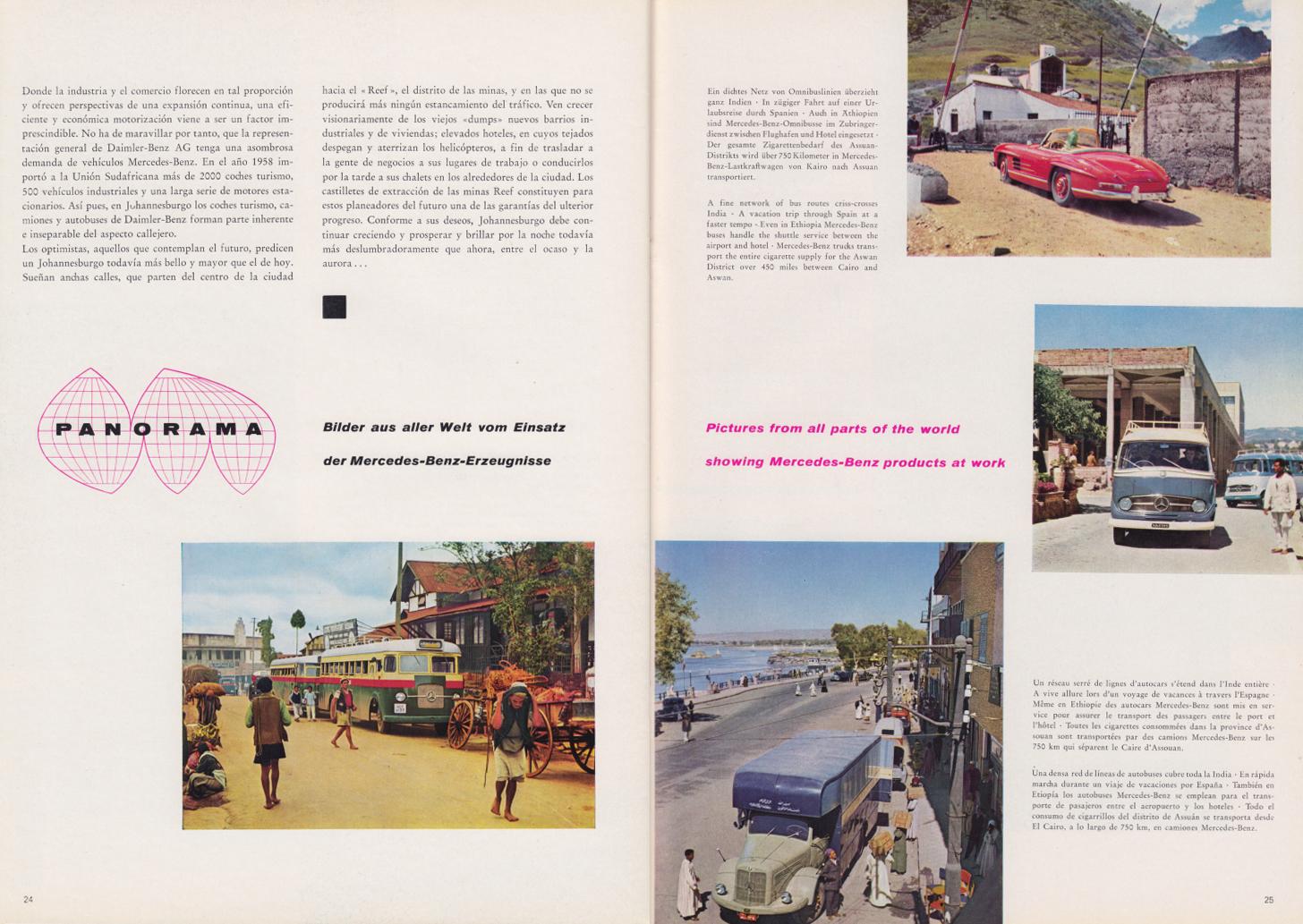 (REVISTA): Periódico In aller welt n.º 34 - Mercedes-Benz no mundo - 1959 - multilingue 013