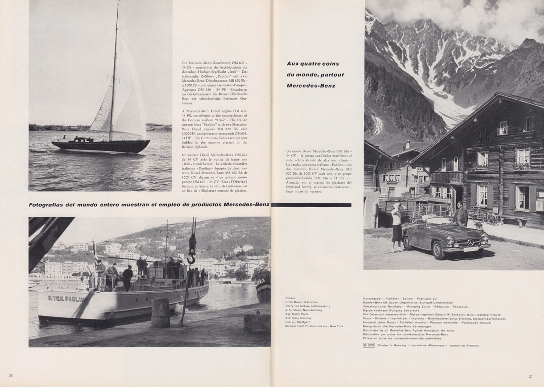 (REVISTA): Periódico In aller welt n.º 34 - Mercedes-Benz no mundo - 1959 - multilingue 014