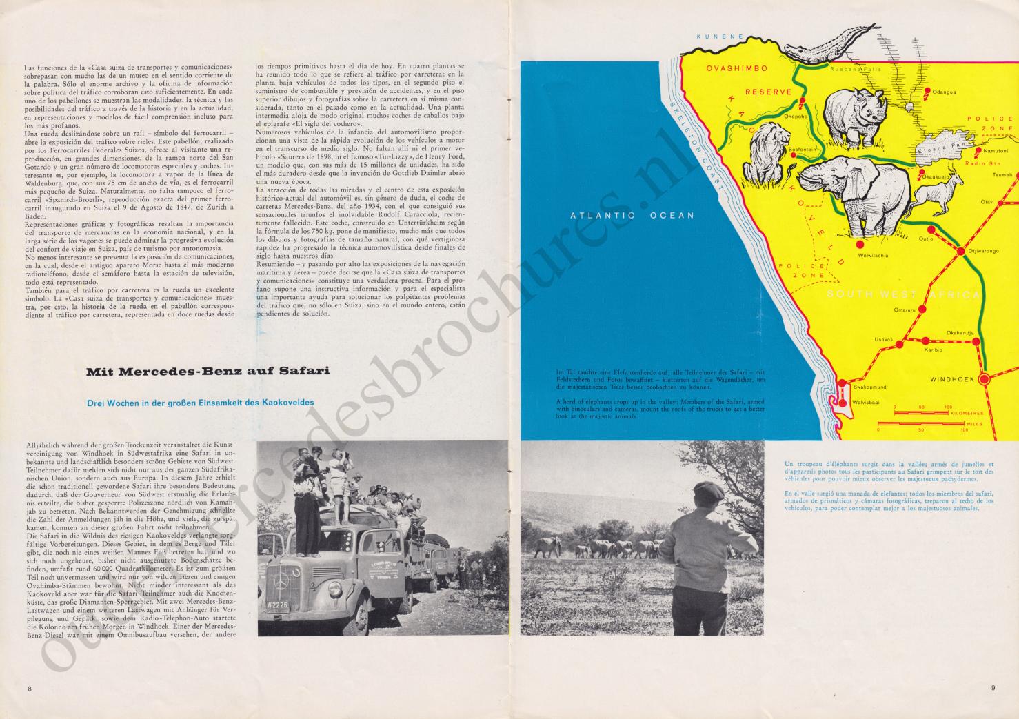 (REVISTA): Periódico In aller welt n.º 37 - Mercedes-Benz no mundo - 1959 - multilingue 005