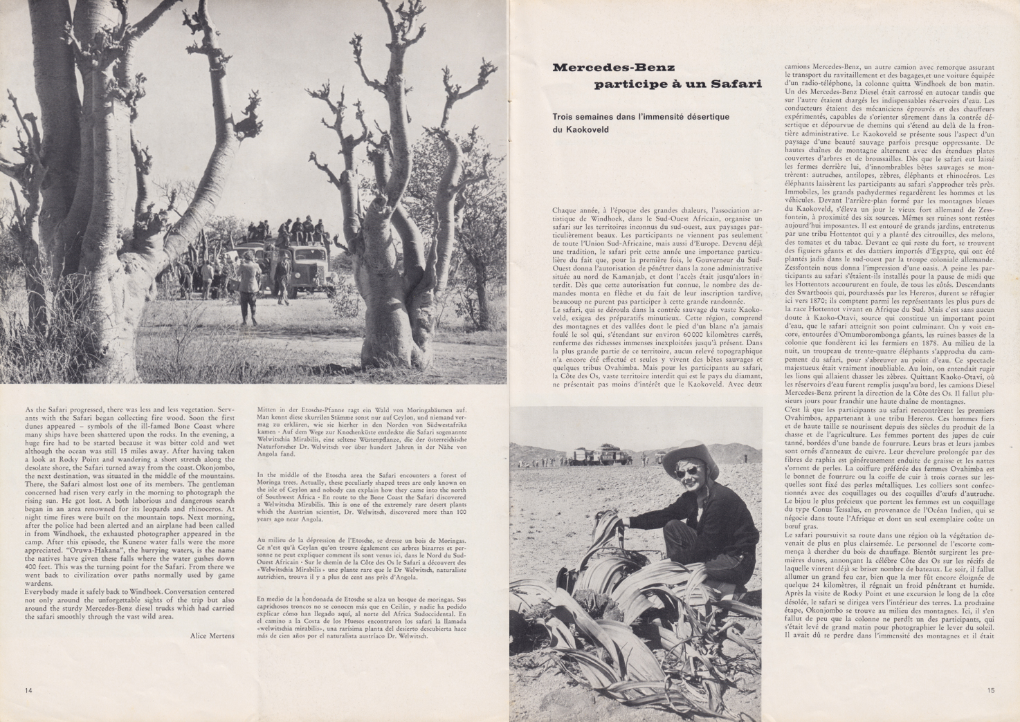 (REVISTA): Periódico In aller welt n.º 37 - Mercedes-Benz no mundo - 1959 - multilingue 008