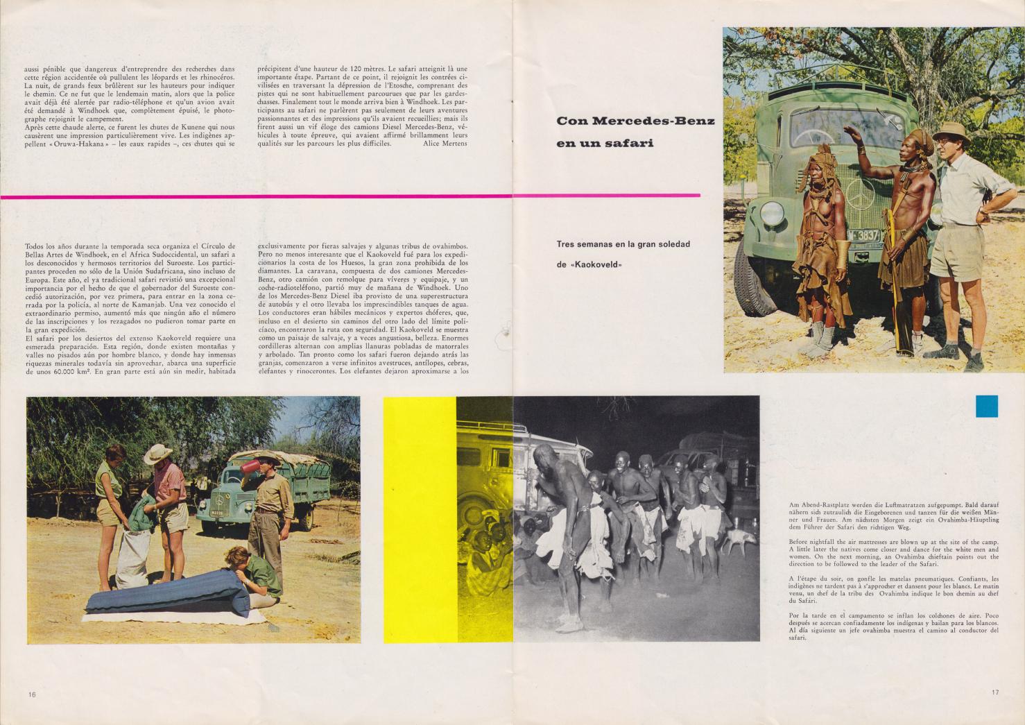 (REVISTA): Periódico In aller welt n.º 37 - Mercedes-Benz no mundo - 1959 - multilingue 009