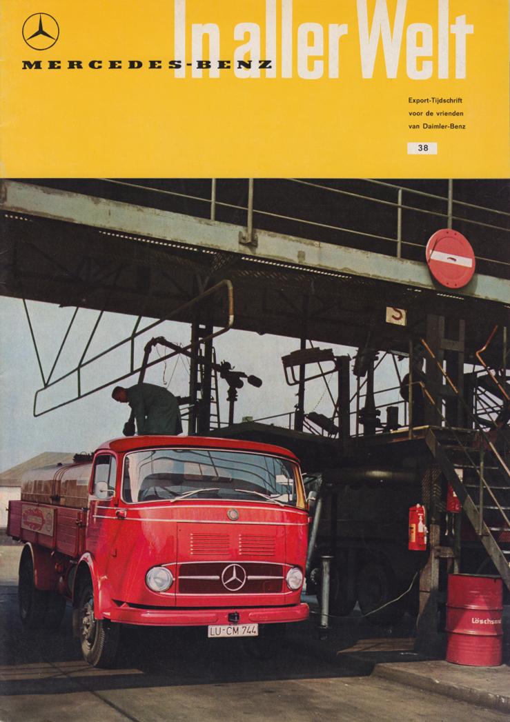 (REVISTA): Periódico In aller welt n.º 38 - Mercedes-Benz no mundo - 1960 - multilingue 001