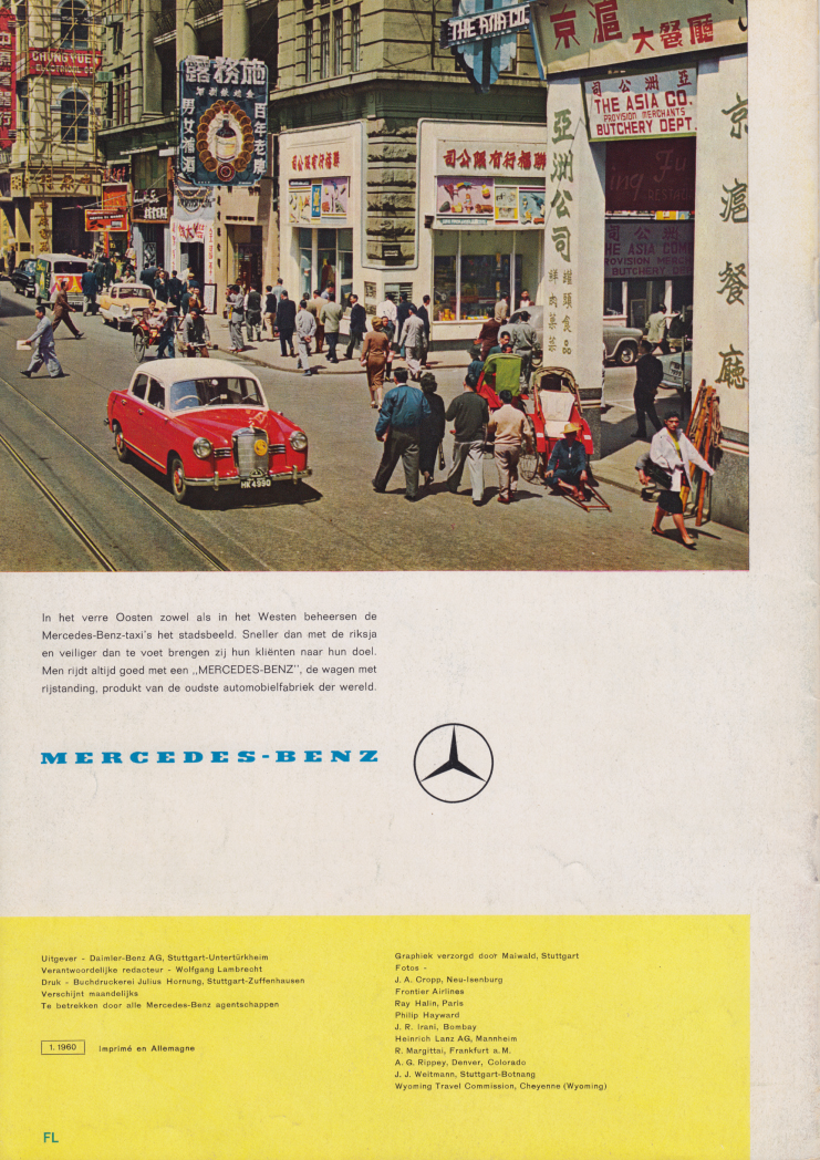 (REVISTA): Periódico In aller welt n.º 38 - Mercedes-Benz no mundo - 1960 - multilingue 011