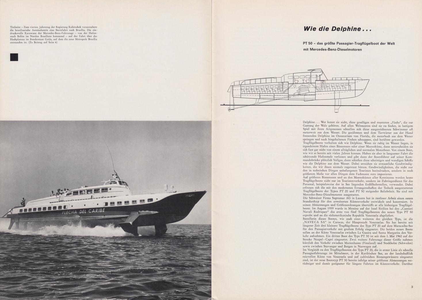 (REVISTA): Periódico In aller welt n.º 42 - Mercedes-Benz no mundo - 1960 - multilingue - com imagens do Brasil e construção de Brasília 002