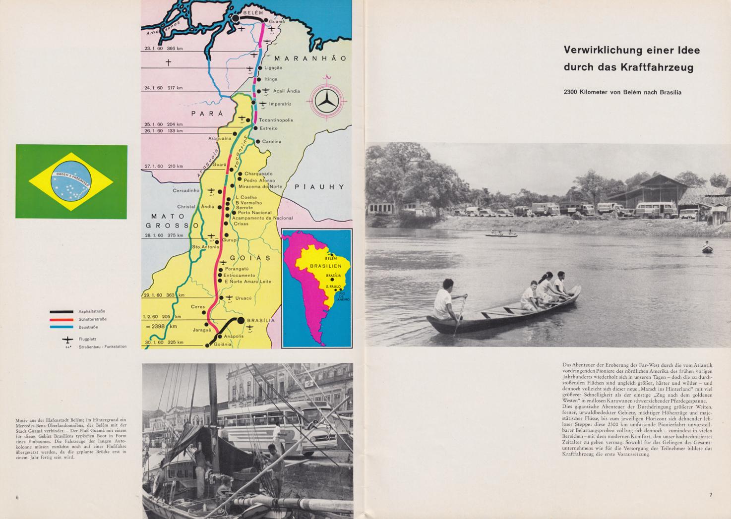 (REVISTA): Periódico In aller welt n.º 42 - Mercedes-Benz no mundo - 1960 - multilingue - com imagens do Brasil e construção de Brasília 004