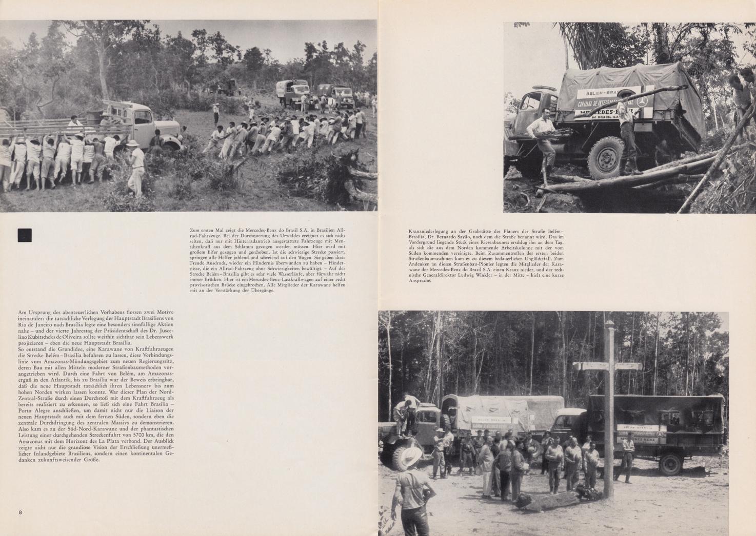 (REVISTA): Periódico In aller welt n.º 42 - Mercedes-Benz no mundo - 1960 - multilingue - com imagens do Brasil e construção de Brasília 005