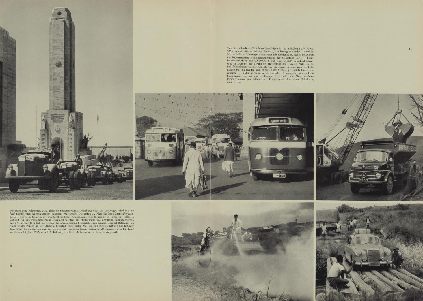 (REVISTA): Periódico In aller welt n.º 42 - Mercedes-Benz no mundo - 1960 - multilingue - com imagens do Brasil e construção de Brasília 008