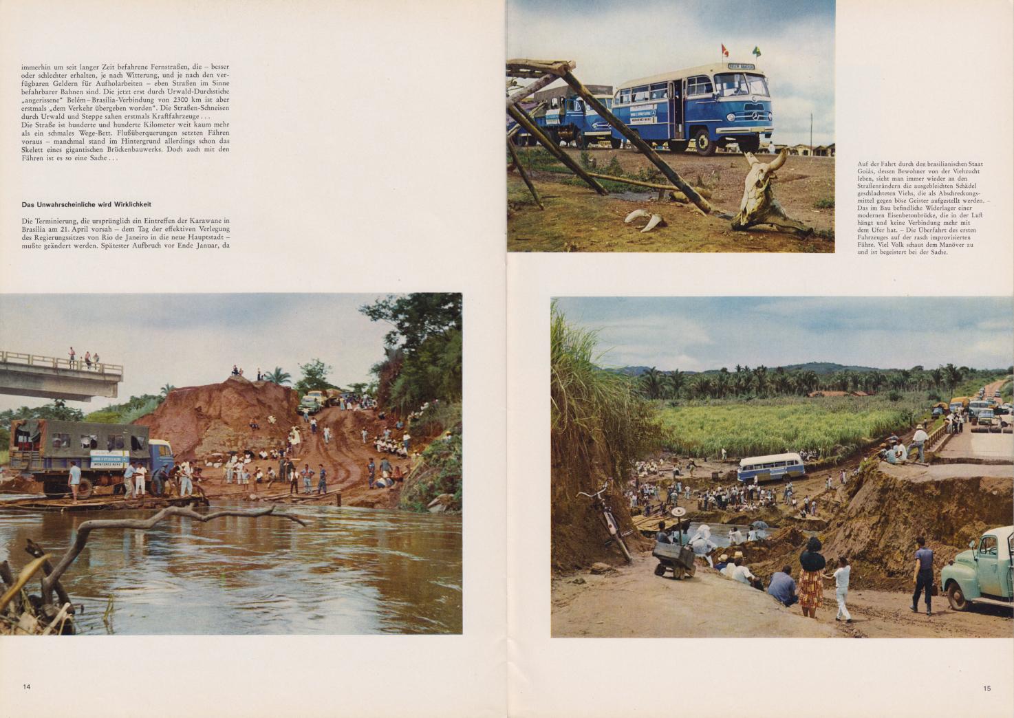(REVISTA): Periódico In aller welt n.º 42 - Mercedes-Benz no mundo - 1960 - multilingue - com imagens do Brasil e construção de Brasília 010