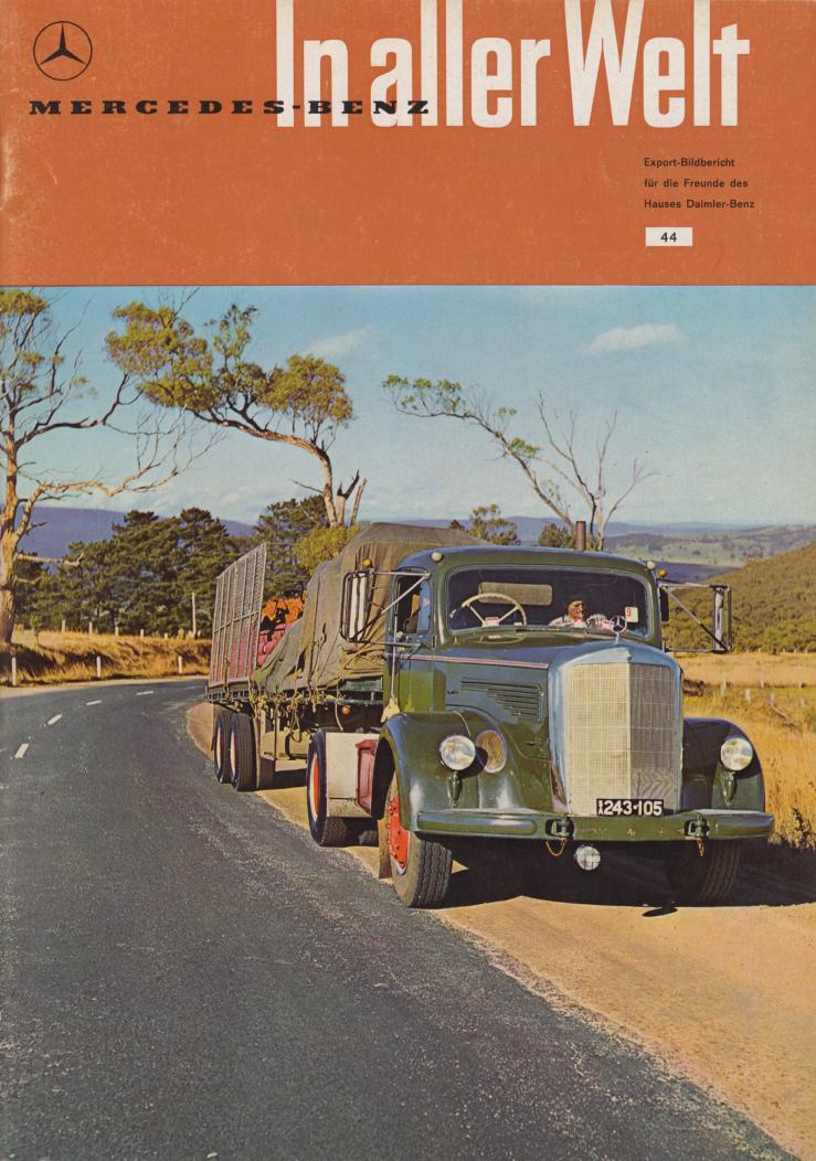 (REVISTA): Periódico In aller welt n.º 44 - Mercedes-Benz no mundo - 1960 - multilingue 001
