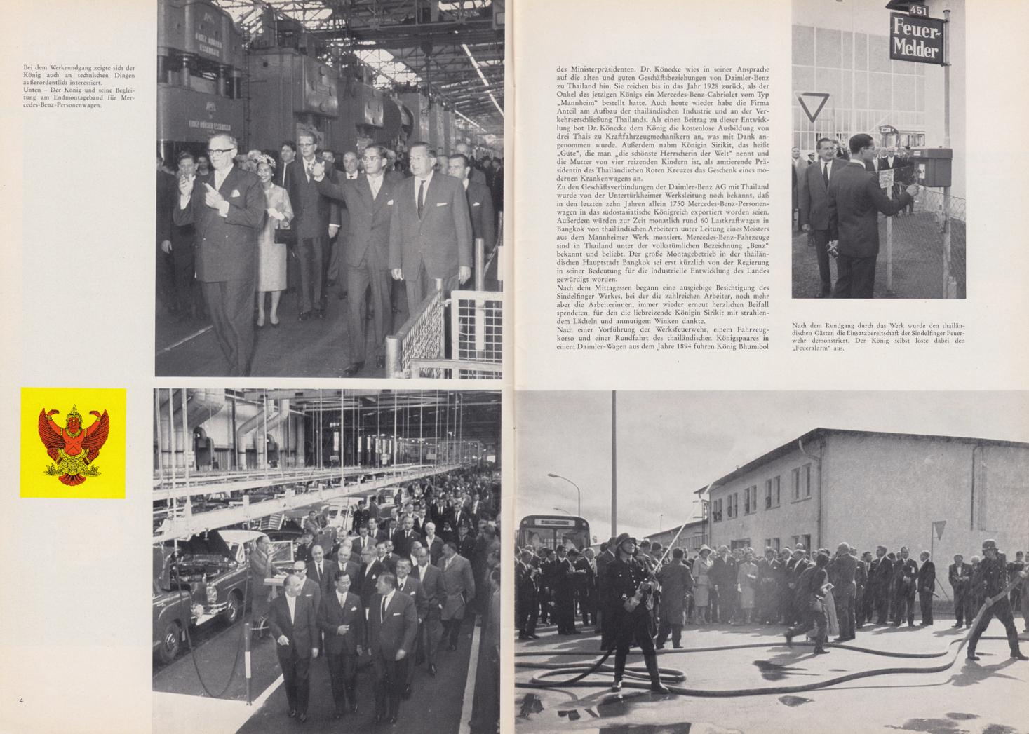 (REVISTA): Periódico In aller welt n.º 44 - Mercedes-Benz no mundo - 1960 - multilingue 003