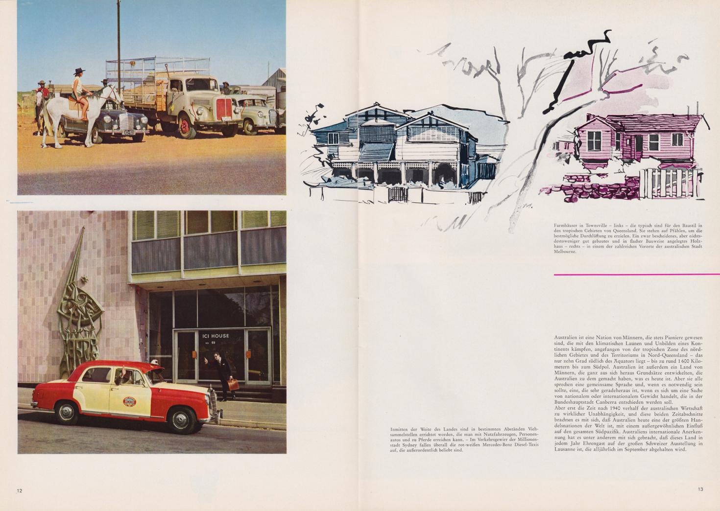 (REVISTA): Periódico In aller welt n.º 44 - Mercedes-Benz no mundo - 1960 - multilingue 007