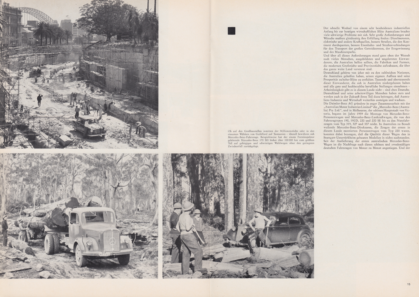 (REVISTA): Periódico In aller welt n.º 44 - Mercedes-Benz no mundo - 1960 - multilingue 008
