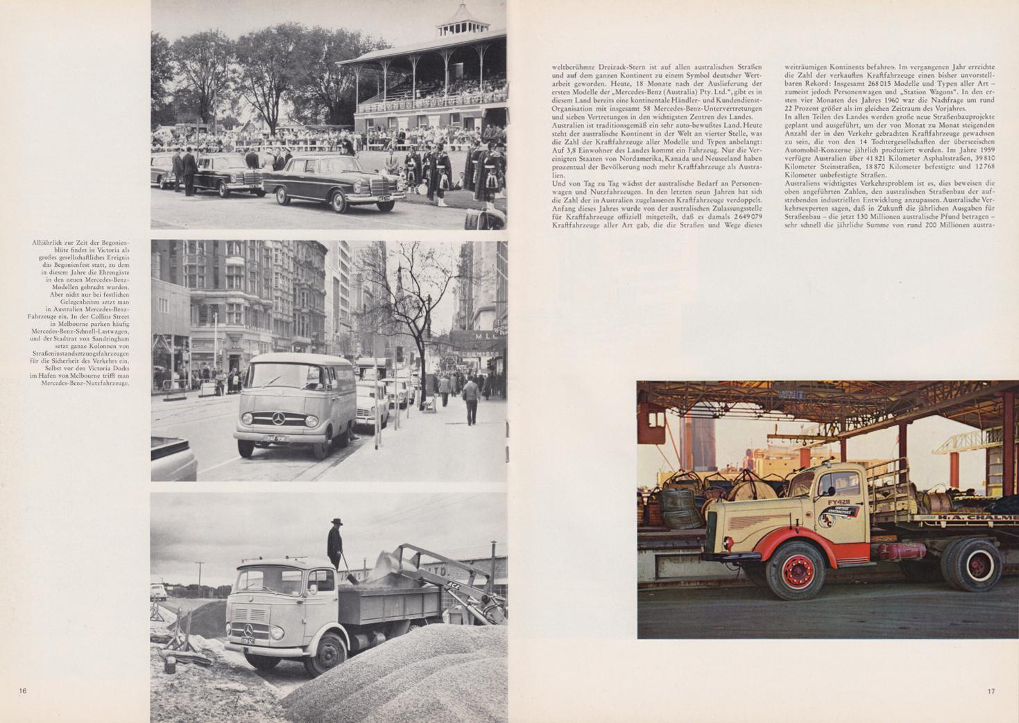 (REVISTA): Periódico In aller welt n.º 44 - Mercedes-Benz no mundo - 1960 - multilingue 009