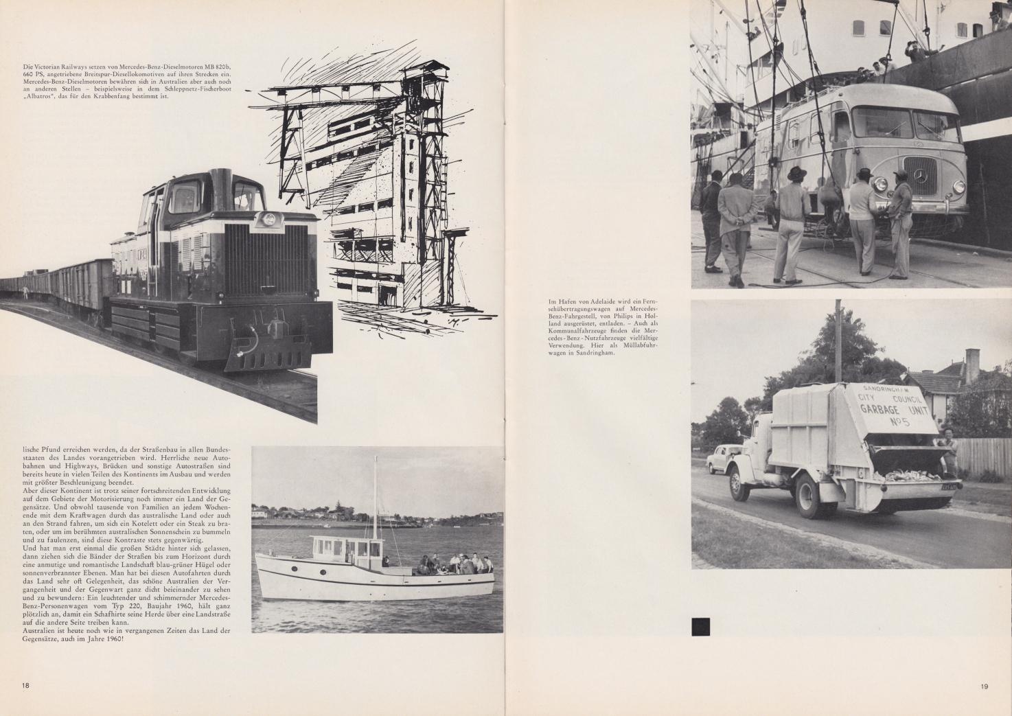 (REVISTA): Periódico In aller welt n.º 44 - Mercedes-Benz no mundo - 1960 - multilingue 010