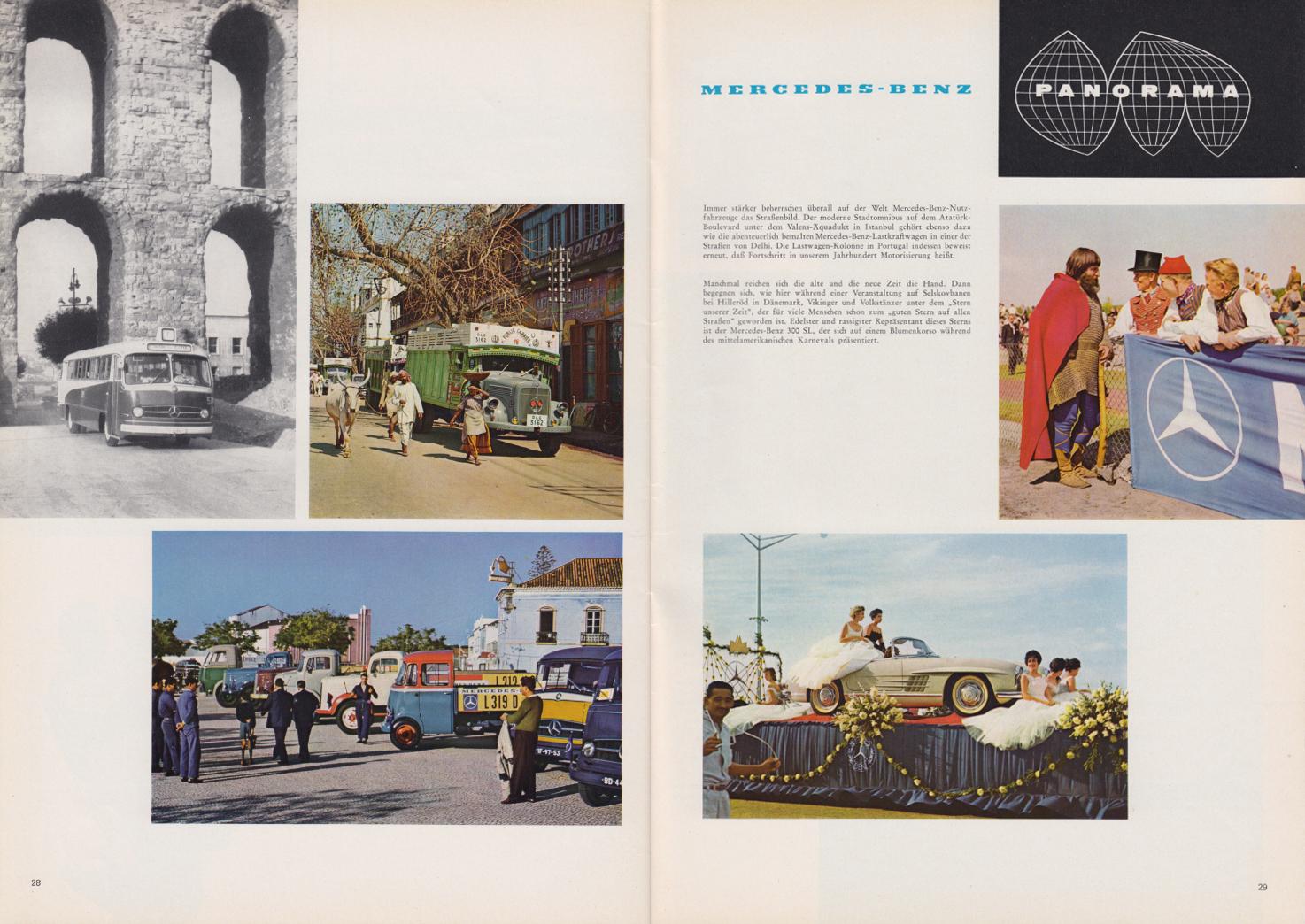 (REVISTA): Periódico In aller welt n.º 44 - Mercedes-Benz no mundo - 1960 - multilingue 015