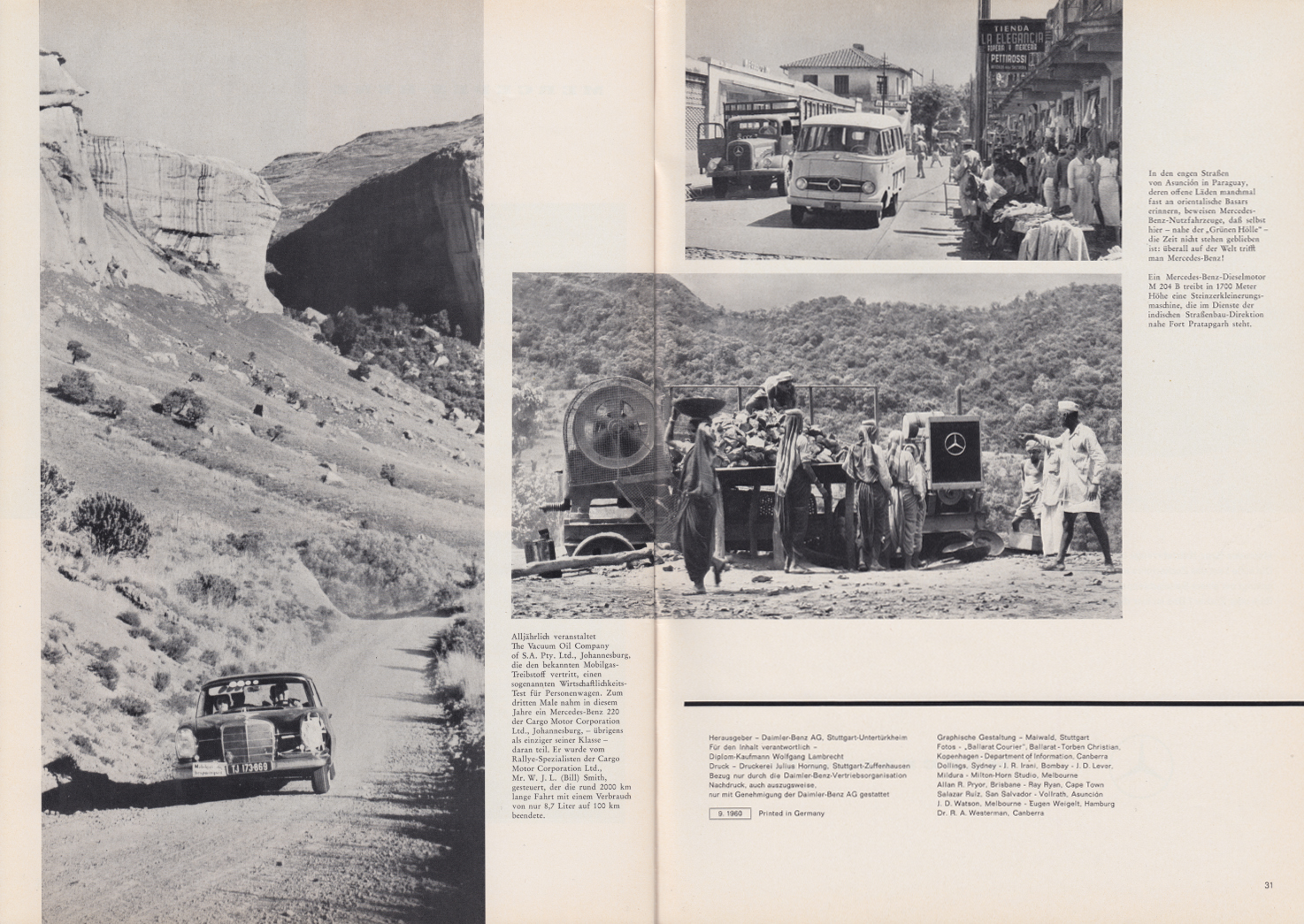 (REVISTA): Periódico In aller welt n.º 44 - Mercedes-Benz no mundo - 1960 - multilingue 016