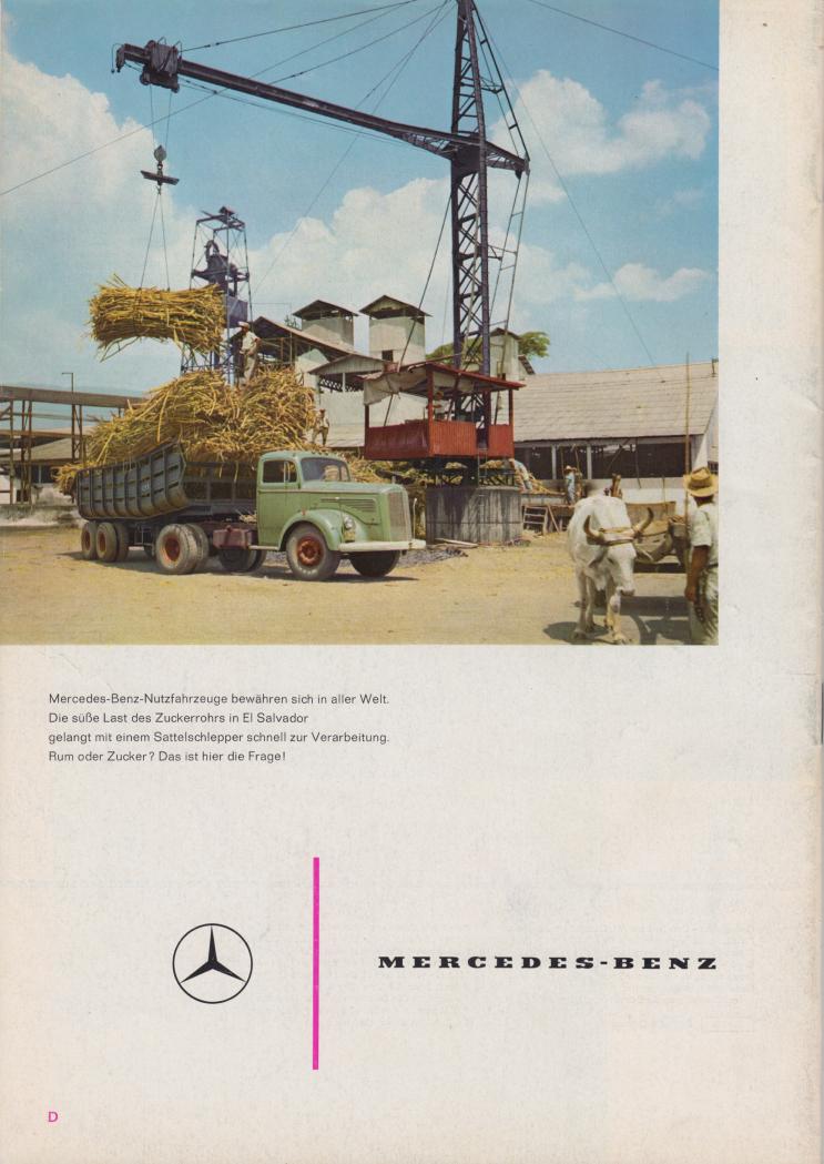 (REVISTA): Periódico In aller welt n.º 44 - Mercedes-Benz no mundo - 1960 - multilingue 017
