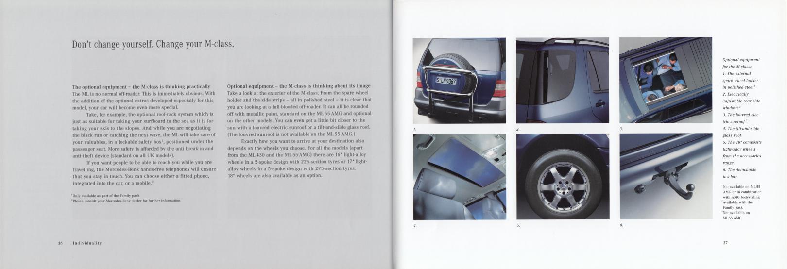(W163): Catálogo 2001 (1) - inglês 020