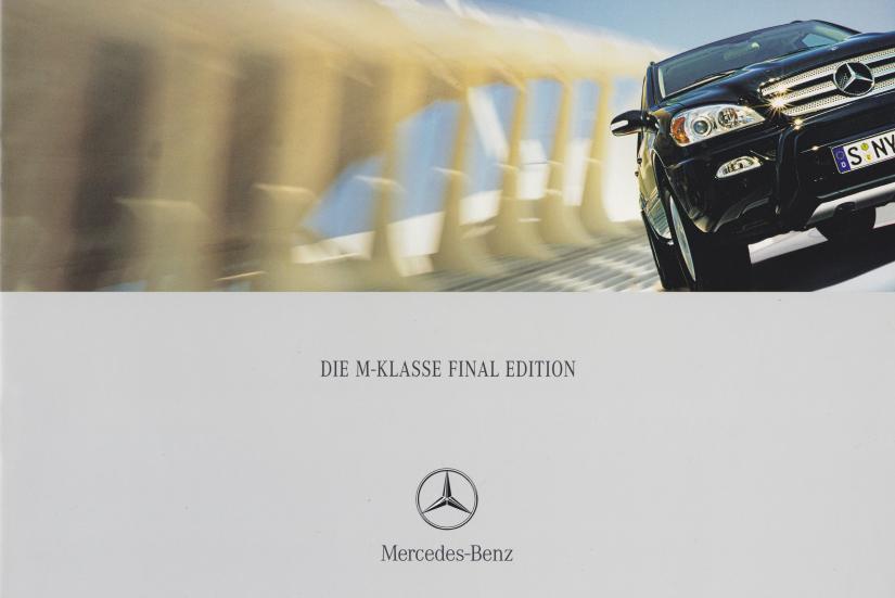 """(W163): Catálogo """"Final Edition"""" 2003 - alemão  001"""