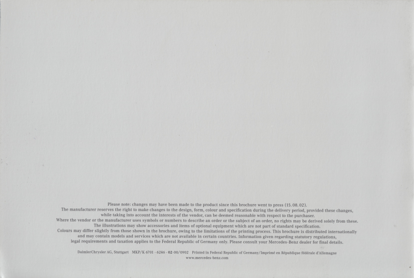"(W163): Catálogo 2002 ""Inspiration"" - inglês 005"