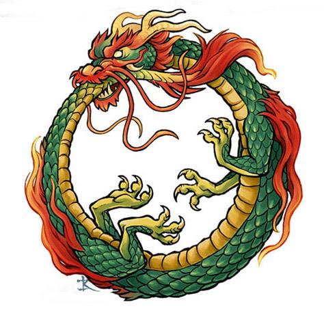Кундалини - змеиная энергия жизни. Ouroboros_dragon2