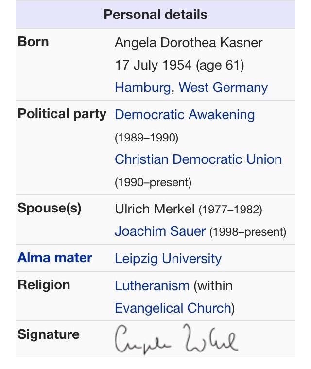 Is Angela Merkel: Hitler's Daughter? Wikipedia