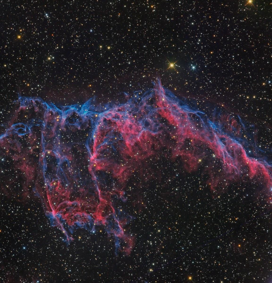 """NGC6992 HOO-RVB au Rcos 12"""" de Sirene Ngc6992-HOO-lum_HOO-rvb6-1153x1200"""