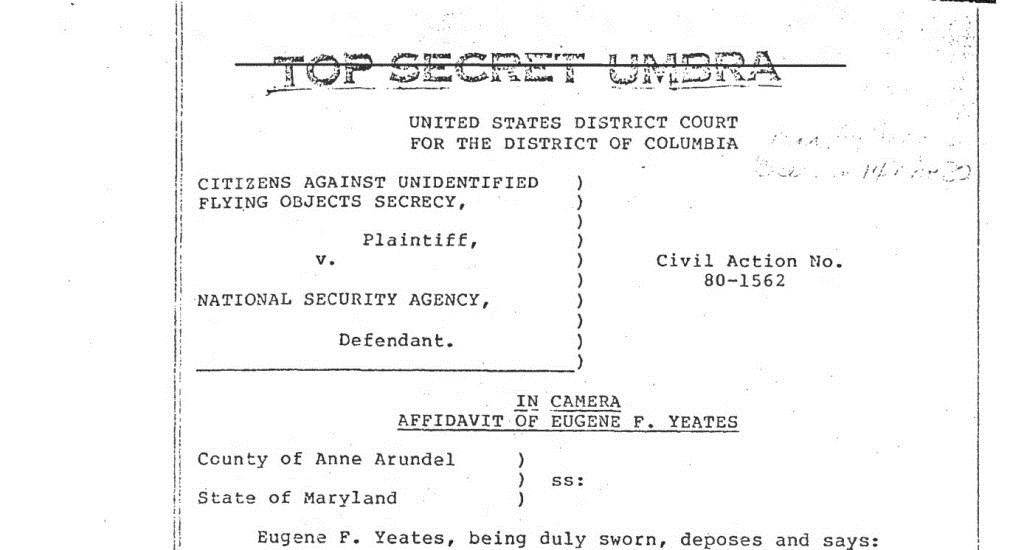 La NSA répond avoir perdu des documents originaux sur les ovnis 5-18