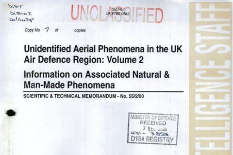 La défense britannique suggère que des témoins auraient pu être exposés à des radiations d'ovnis 47-4