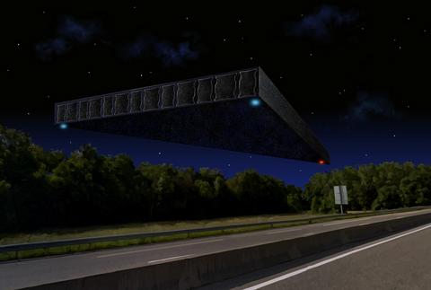 Mini-Documentaire : un immense triangle noir prés du LHC de Genève- L'Affaire CHALLEX Ovni-challex