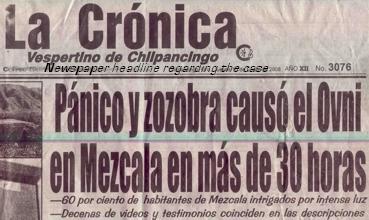 Panique au Mexique: objet lumineux posé au sol pendant 30 heures Mexico-La_Cronica1