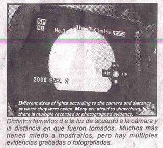 Panique au Mexique: objet lumineux posé au sol pendant 30 heures Mexico-La_Cronica2