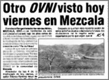 Panique au Mexique: objet lumineux posé au sol pendant 30 heures Mexico-La_Cronica3