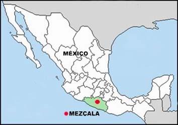 Panique au Mexique: objet lumineux posé au sol pendant 30 heures Mezcala_map