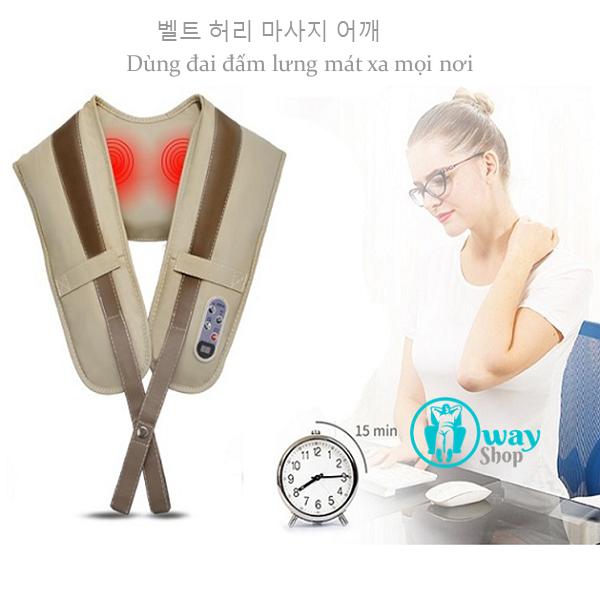 Đai massage đấm lưng vai gáy AYS Hàn Quốc  Dai%20dam%20lung4