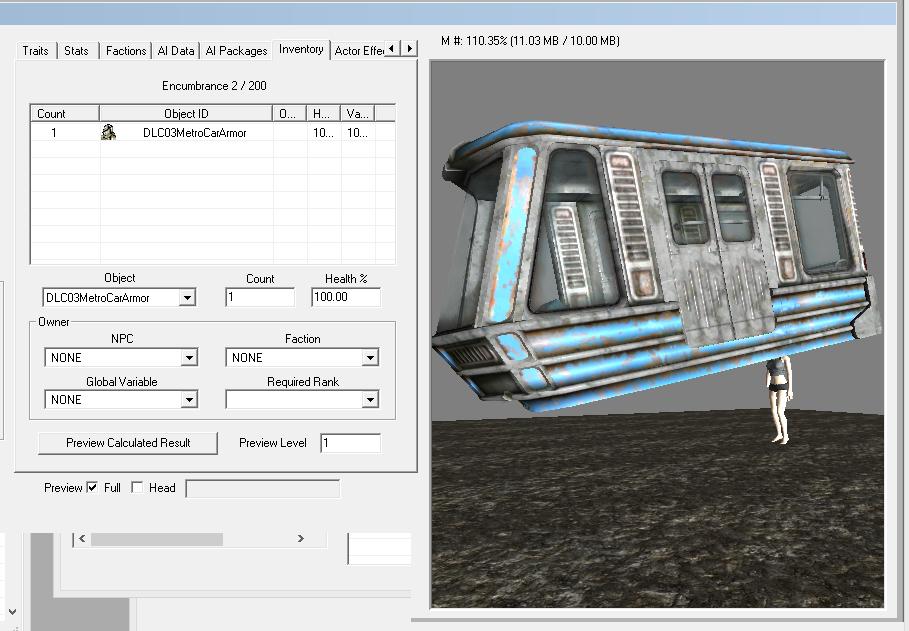 Gambiarra: o trem de Fallout 3 é apenas um NPC com um chapéu gigante Fo