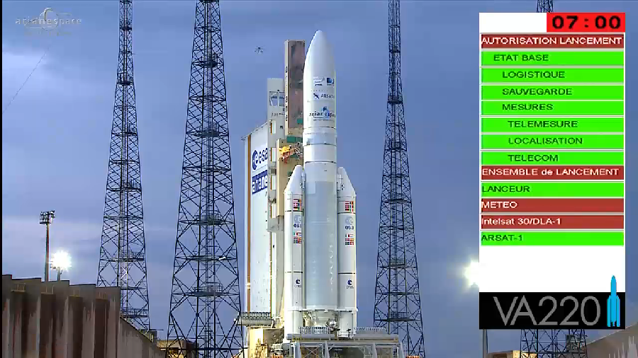 Lancement Ariane 5 VA220 / ISDLA-1 & ARSAT-1 / 16 octobre 2014 - Page 2 2014-10-16_23-11-56