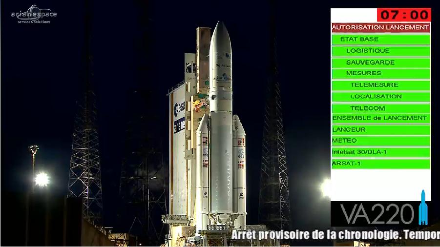 Lancement Ariane 5 VA220 / ISDLA-1 & ARSAT-1 / 16 octobre 2014 - Page 2 2014-10-16_23-34-39