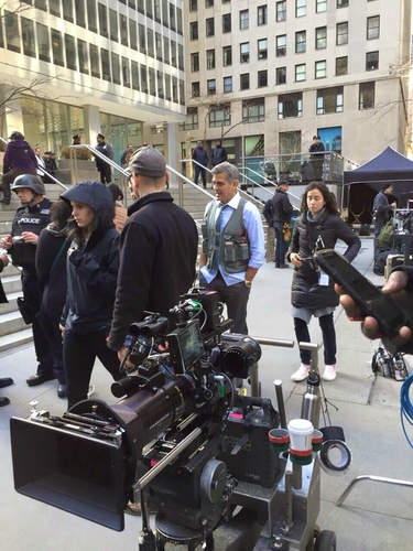 George Clooney on Money Monster Set April 10th & 11th  2015 103439432