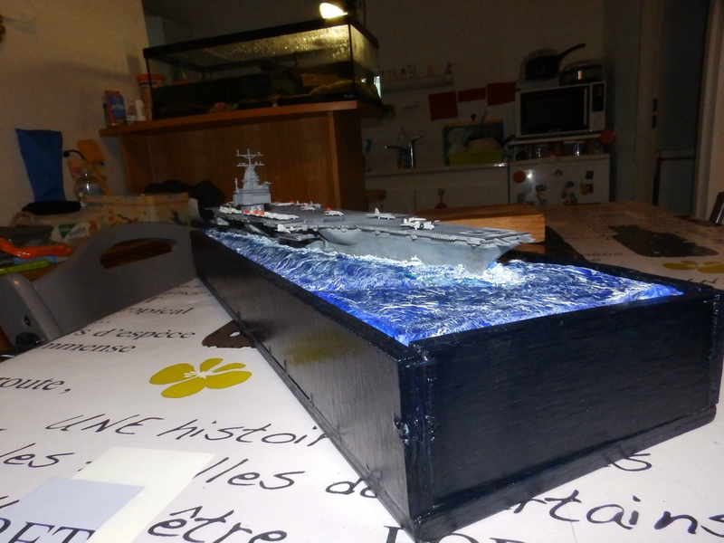 Porte avion USS ENTREPRISE-revell-[Mise en scène marine] 1/720. 105901476