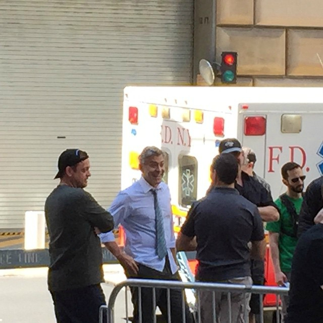 George Clooney on location: Money Monster NYC April 18, 2015 103580027