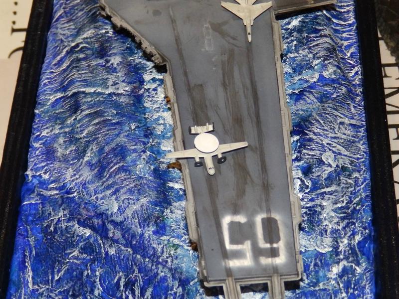 Porte avion USS ENTREPRISE-revell-[Mise en scène marine] 1/720. 105901333