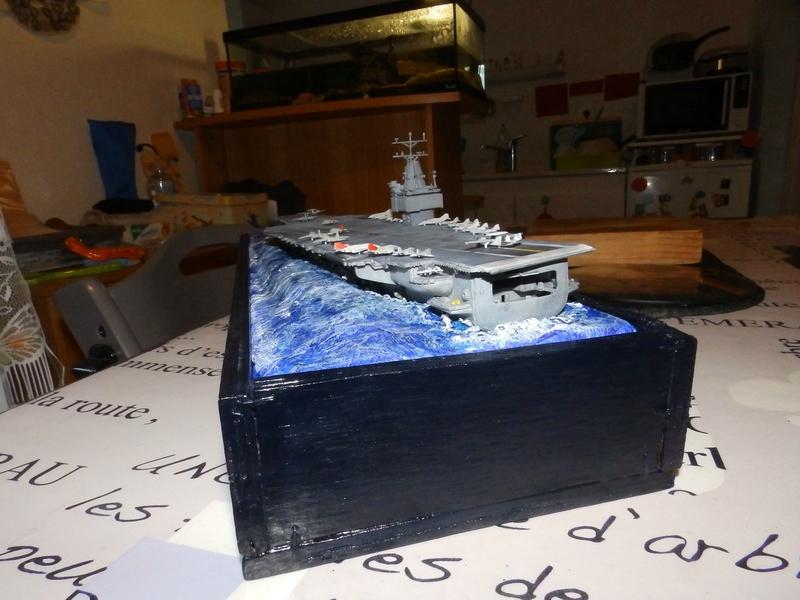 Porte avion USS ENTREPRISE-revell-[Mise en scène marine] 1/720. 105901542