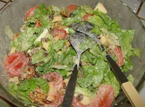 Salade composée à la sauce de la fleur d'oranger  88969568_p