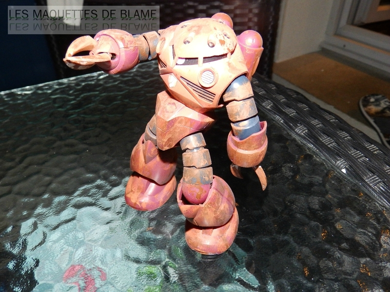 """MSM-07S Z'GOK CAMMANDER TYPE  """"ABANDONED AND RUST CUSTOM"""" - BANDAI - 1/144 - MONTAGE RAPIDE 116943963"""